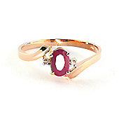 QP Jewellers Diamond & Ruby Embrace Ring in 14K Rose Gold