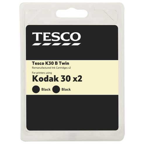 Tesco (Kodak 30) 2 pack printer ink cartridge - Black