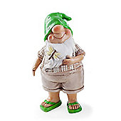 Nolan the Summertime Garden Gnome Ornament in Flip-flops