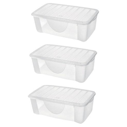 buy set of 3 4 7l plastic shoe storage boxes from our. Black Bedroom Furniture Sets. Home Design Ideas