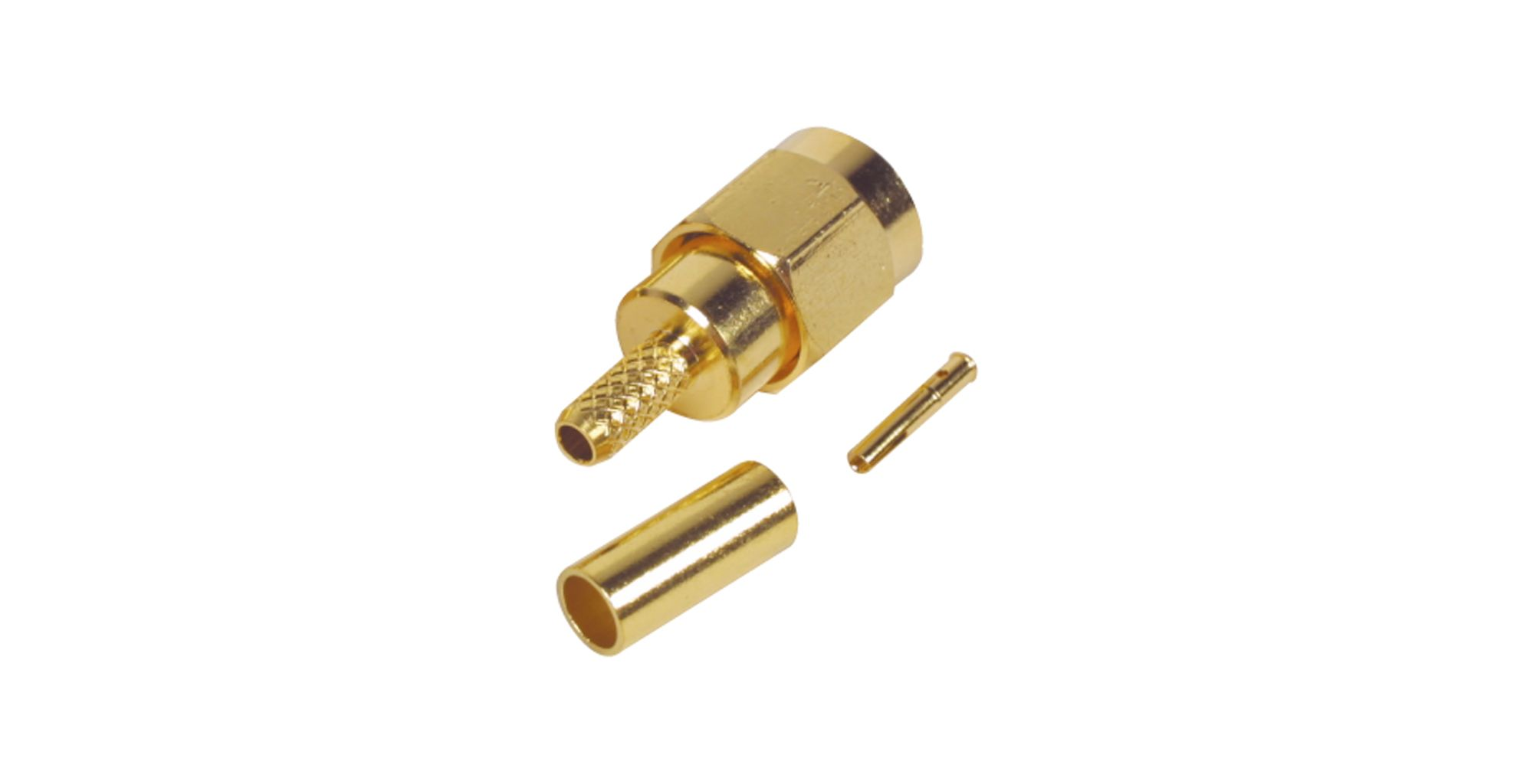SMA Male To Male Crimp Plug RF Connector For Rg58