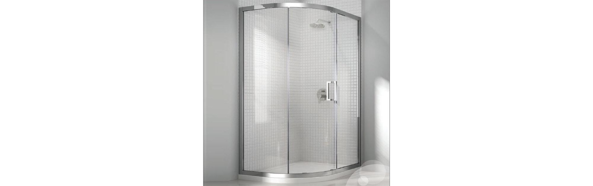Merlyn Vivid Eight Offset Quadrant Shower Enclosure, 1200mm x 900mm, Left Handed, Low Profile Tray, 8mm Glass