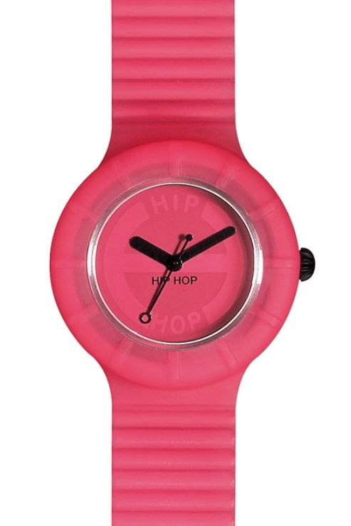 Hip Hop Unisex Full Colour Pink Glam Strap Watch HWU0060