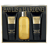 Baylis & Harding Men's Black Pepper & Gensing 3 Piece Set