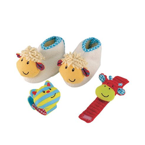Blossom Farm Wrist Rattle and Bootie Set