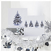 Tesco Sparkle Winter Trees Christmas Cards, 10 Pack