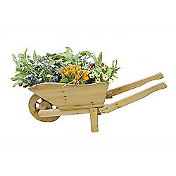 Bentley Garden Wooden Wheelbarrow Planter