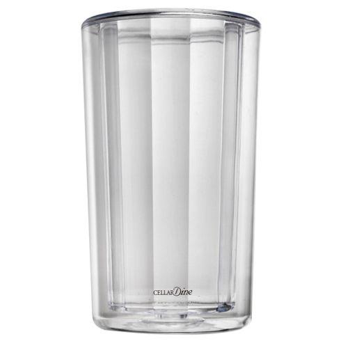 CELLARDine Acrylic Wine Bottle Cooler, Clear