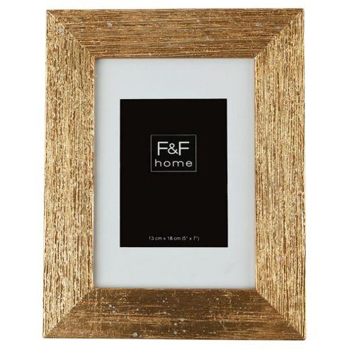 F&F home gold scratch effect frame 5x7