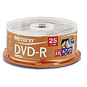 DVD-R, 4.7GB, 16X, 25 Pack