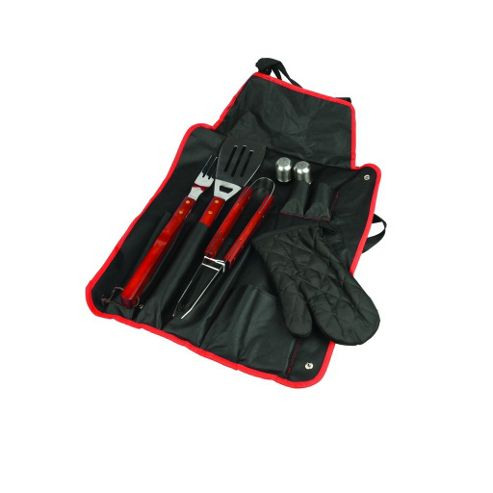 5 piece Barbeque Tools and Apron Combo