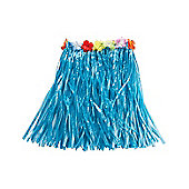 Rubies Fancy Dress Costume - Hawaiian Grass Skirt - Blue - Length 50cm