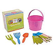Twigz Childrens Gardening Tools 0833 My First Gardening Tools (Pink Bucket)