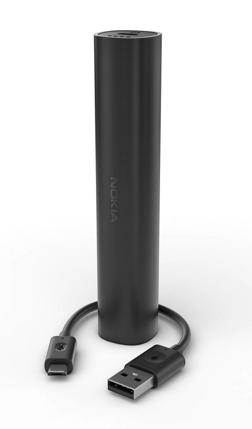 Nokia DC-16 Portable USB Charger for Universal Smartphone Devices - Black