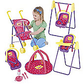 Peppa Pig Play and Go Dolls Travel Set