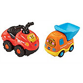 Vtech Toot Toot Drivers Bundle - Quad Bike And Dumper Truck - 2 Items Supplied