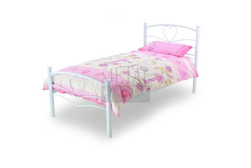 MetalBedsLtd Love Single Bed Frame - White