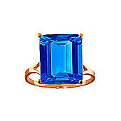 QP Jewellers 7.0ct Blue Topaz Auroral Ring in 14K Rose Gold