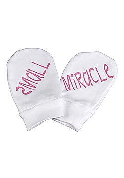 Spoilt Rotten - Small Miracle 100% Organic Cotton Baby Mittens