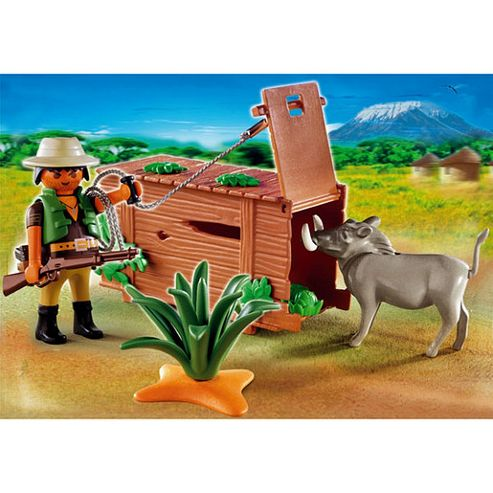 Playmobil - African Wildlife Poacher with Warthog 4833