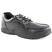Us Brass Mens Black Stubby 2 Lace-up Shoe - Black