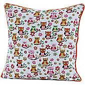 Homescapes Cotton Owls Scatter Cushion, 45 x 45 cm