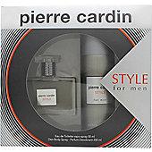 Pierre Cardin Style Gift Set 50ml EDT + 200ml Body Spray For Men