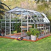 Palram Americana 12' x 12' - Silver Greenhouse - Polycarbonate and Aluminium Frame