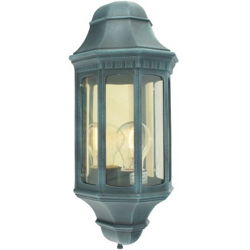 Norlys Malaga One Light Outdoor Wall Lantern - Verdigris