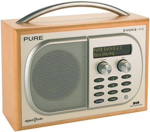 PURE EVOKE 1S DAB RADIO (CHERRY)