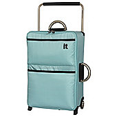 IT Luggage World's Lightest 2-Wheel Suitcase, Turquoise Medium