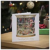 Tesco Santa's Workshop Scene Christmas Cards, 6 Pack