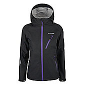Mountain Warehouse Extreme Active Women's 3-layer Waterproof Jacket Coat - Black