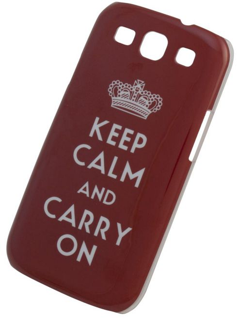 Tortoise™ Hard Case Samsung Galaxy SIII Keep Calm and Carry On