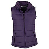 Maple Womens Padded Body Warmer Hiking Walking Gilet Bodywarmer Top - Purple