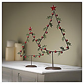 Gisela Graham Tin Leaf Bell Tree Home Decoration