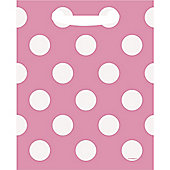 Pink Polka Dot Party Bags - Plastic Loot Bags