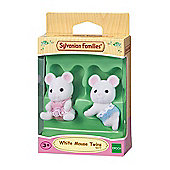 White Mouse Twin Babies - Sylvanian Families Baby Figures 5077