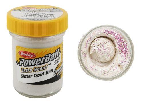 Berkley Powerbait Select Glitter Troutbait - White Twin Pack