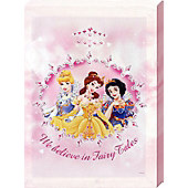 Walt Disney Disney Princess We Believe in Fairy Tales Canvas Print