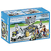 Playmobil City Action Aircraft Stairs With Passengers And Cargo
