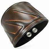 Urban Male Tribal Design Men's Leather Bracelet 50mm