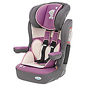 Obaby Group 1-2-3 Highback Booster Car Seat, Tiny Tatty Teddy Dusky Pink