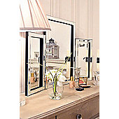 Modern Design Glass Venetian Dressing Table Mirror 1Ft10 X 2Ft7 (54Cm X 77Cm)