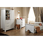 Obaby Lincoln Sleigh 3 Piece Furniture Set - White