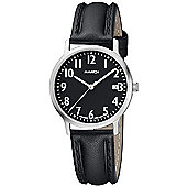 M-Watch Black & White Unisex Leather Date Watch A661.30545.03