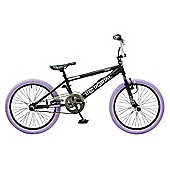 Rooster Big Daddy 20 BMX Black/Lilac with Spoke Wheels