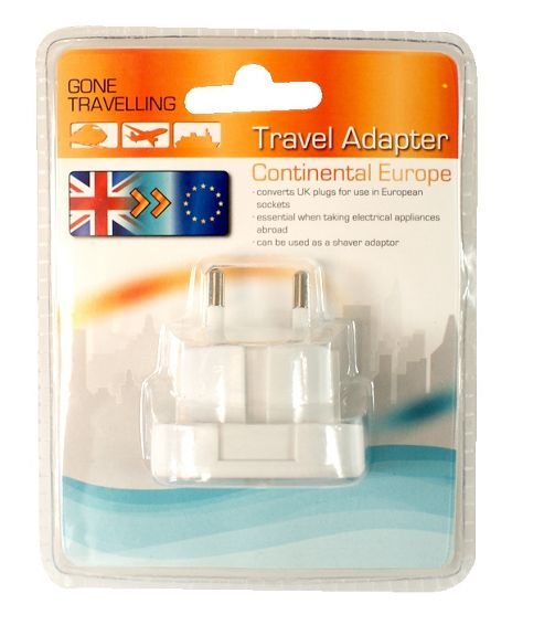 Travel Adapter - Continental Europe - Boyz Toys