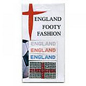 England Bling Sticker RD-BL-SI 3Pk