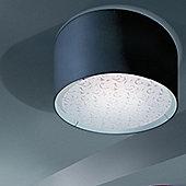 Lucente Ginger Ceiling Light - Black - White - 1 x 105W E27 A55